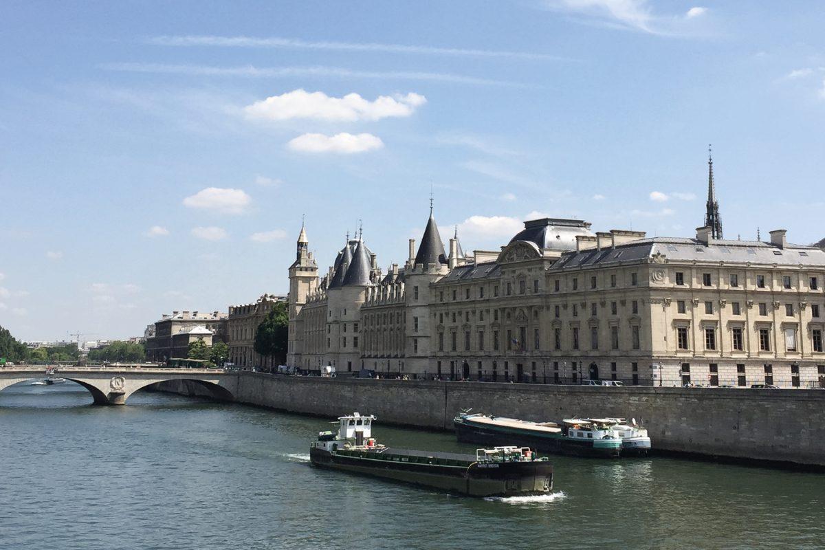 River view in Paris.